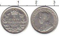 Изображение Монеты Северная Америка Канада 5 центов 1919 Серебро VF