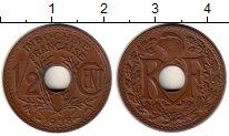 Изображение Монеты Индокитай 1/2 цента 1938 Бронза UNC-