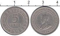 Изображение Монеты Северная Америка Белиз 5 сентаво 1936 Медно-никель XF