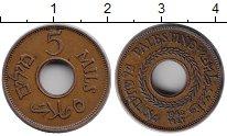 Изображение Монеты Палестина 5 милс 1942 Бронза XF