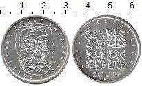 Изображение Монеты Чехия 200 крон 1995 Серебро UNC 200 лет со дня рожде