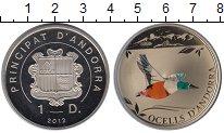 Изображение Монеты Андорра 1 динер 2012 Медно-никель Proof- Птица Широконоска, п