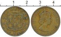 Изображение Монеты Ямайка 1/2 пенни 1958 Латунь VF