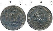Изображение Монеты Центральная Африка 100 франков 1966 Медно-никель XF