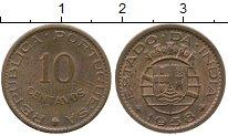 Изображение Монеты Португальская Индия 10 сентаво 1958 Бронза XF