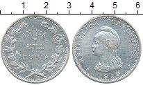 Изображение Монеты Португалия Португальская Индия 1 рупия 1912 Серебро XF-