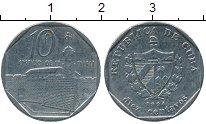 Изображение Мелочь Куба 10 сентаво 0 Медно-никель XF Интур.<br>Года Разн