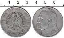 Изображение Монеты Польша 10 злотых 1936 Серебро VF Юзеф Пилсудский