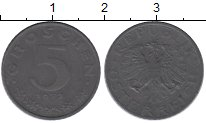 Изображение Монеты Европа Австрия 5 грош 1972 Цинк XF