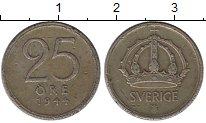 Изображение Монеты Европа Швеция 25 эре 1944 Серебро VF