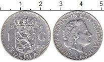 Изображение Монеты Нидерланды 1 гульден 1956 Серебро VF
