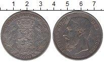 Изображение Монеты Бельгия 5 франков 1870 Серебро VF Леопольд II
