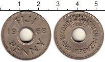 Изображение Монеты Австралия и Океания Фиджи 1 пенни 1968 Медно-никель XF