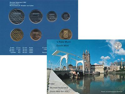 Изображение Подарочные монеты Нидерланды Набор 1992 года 1992  UNC