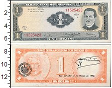 Изображение Банкноты Северная Америка Сальвадор 1 колон 1970  UNC