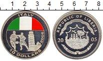 Изображение Монеты Либерия 10 долларов 2005 Серебро Proof- Чемпионат Мира по фу