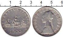 Изображение Монеты Италия 500 лир 1958 Серебро XF-