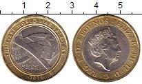 Изображение Монеты Великобритания 2 фунта 2016 Биметалл XF