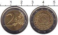 Изображение Монеты Италия 2 евро 2015 Биметалл UNC- 30 лет флагу Евросою