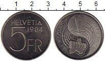 Изображение Монеты Швейцария 5 франков 1984 Медно-никель UNC-