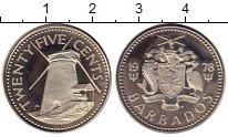 Изображение Монеты Северная Америка Барбадос 25 центов 1978 Медно-никель Proof-