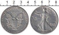 Изображение Монеты Северная Америка США 1 доллар 1991 Серебро UNC-