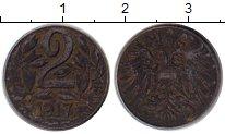 Изображение Монеты Австрия 2 геллера 1917 Железо VF