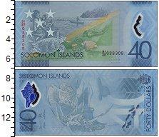 Изображение Банкноты Соломоновы острова 40 долларов 2018 Пластик UNC