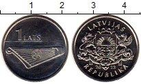 Изображение Монеты Латвия 1 лат 2013 Медно-никель UNC-