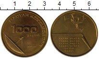 Изображение Мелочь Венгрия 1000 форинтов 2002 Латунь UNC