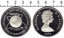 Изображение Монеты Теркc и Кайкос 10 крон 1975 Серебро Proof