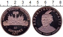 Изображение Монеты Северная Америка Гаити 10 гурдов 1971 Серебро Proof-