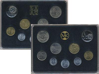 Изображение Подарочные монеты Чехия ЧСФР Набор 1991 года 1991  UNC