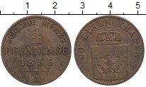 Изображение Монеты Пруссия 4 пфеннига 1856 Медь XF-