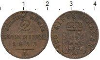 Изображение Монеты Германия Пруссия 2 пфеннига 1855 Медь XF