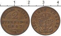 Изображение Монеты Германия Пруссия 2 пфеннига 1867 Медь XF