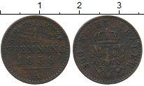 Изображение Монеты Пруссия 1 пфенниг 1858 Медь XF