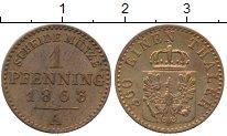 Изображение Монеты Германия Пруссия 1 пфенниг 1863 Медь XF