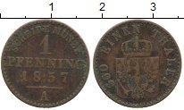 Изображение Монеты Германия Пруссия 1 пфенниг 1857 Медь VF