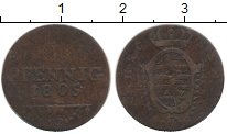 Изображение Монеты Германия Саксен-Кобург-Саалфелд 1 пфенниг 1805 Медь VF