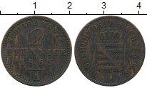 Изображение Монеты Германия Саксен-Веймар-Эйзенах 2 пфеннига 1865 Медь XF