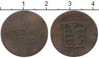 Изображение Монеты Германия Саксен-Веймар-Эйзенах 1 пфенниг 1792 Медь VF