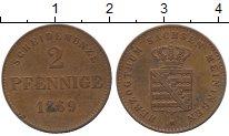 Изображение Монеты Германия Саксен-Майнинген 2 пфеннига 1869 Медь XF