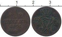 Изображение Монеты Германия Гессен-Кассель 1 геллер 1831 Медь XF-