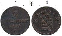 Изображение Монеты Саксен-Майнинген 2 пфеннига 1859 Медь XF