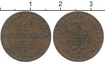 Изображение Монеты Германия Саксония 1 пфенниг 1872 Медь XF