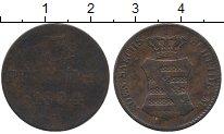 Изображение Монеты Германия Саксония 3 пфеннига 1834 Медь VF
