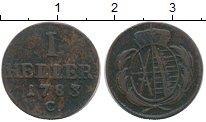 Изображение Монеты Саксония 1 геллер 1783 Медь XF-