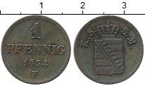 Изображение Монеты Саксен-Майнинген 1 пфенниг 1854 Медь XF