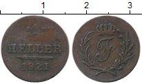 Изображение Монеты Германия Саксен-Хильдбургхаузен 1 геллер 1821 Медь XF-